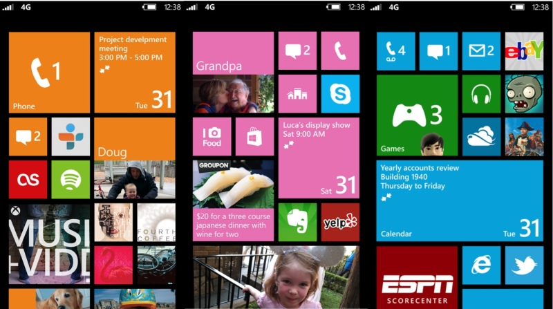 Windows Phone 8 Home Screen