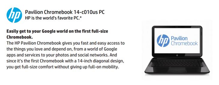 HP Pavilion Chromebook