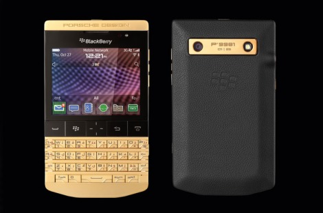 Gold BlackBerry Porsche P'9981