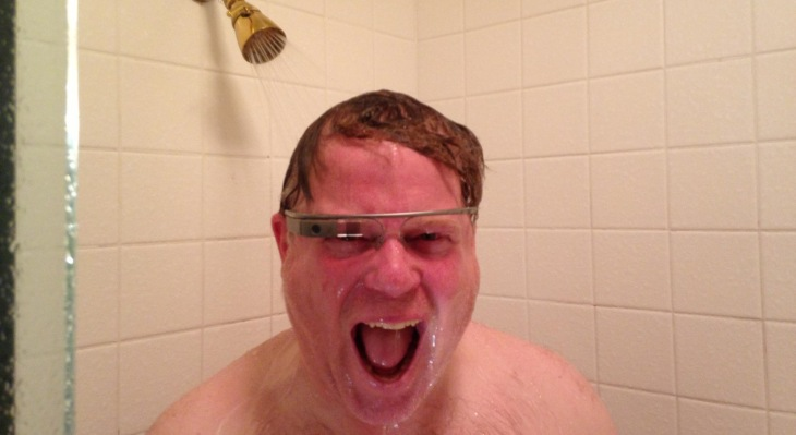 Scoble in the shower