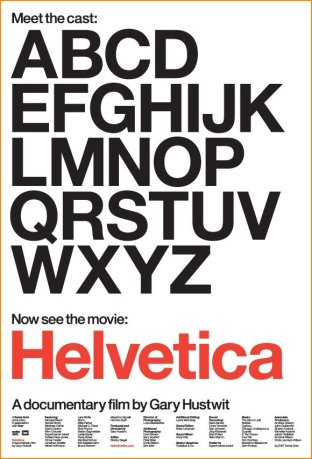 Poster for Gary Hustwit's 2007 documentary, Helvetica