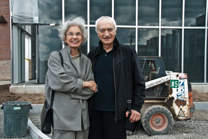 Massimo Vignelli and wife Lella, pictured in 2010